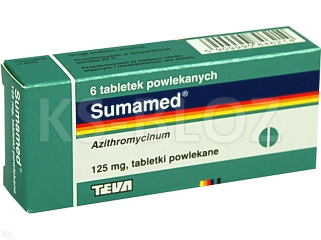 Sumamed interakcje ulotka tabletki powlekane 0,125 g 6 tabl.