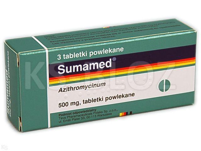 Sumamed interakcje ulotka tabletki powlekane 0,5 g 3 tabl.