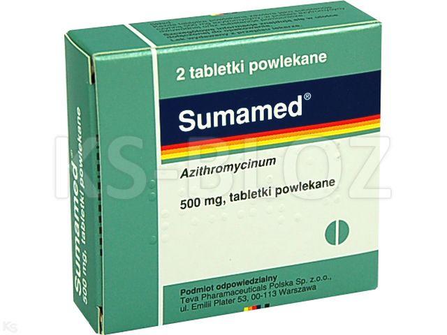 Sumamed interakcje ulotka tabletki powlekane 0,5 g 2 tabl.