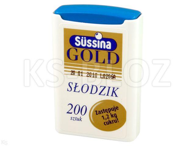 Sussina Gold 200 tab. słodzik z dozown. słodzik z dozown. interakcje ulotka tabletki  200 tabl.