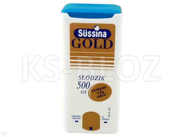 Sussina Gold słodzik z dozown. interakcje ulotka tabletki  500 tabl.