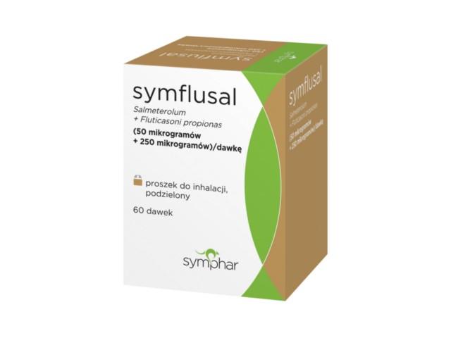 Symflusal interakcje ulotka proszek do inhalacji (0,25mg+0,05mg)/daw. 60 daw.