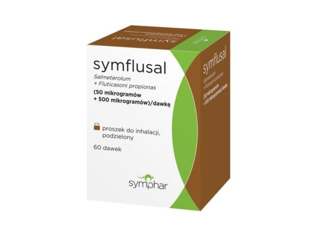 Symflusal interakcje ulotka proszek do inhalacji (0,5mg+0,05mg)/daw. 60 daw. | + inhal.Elpenhaler