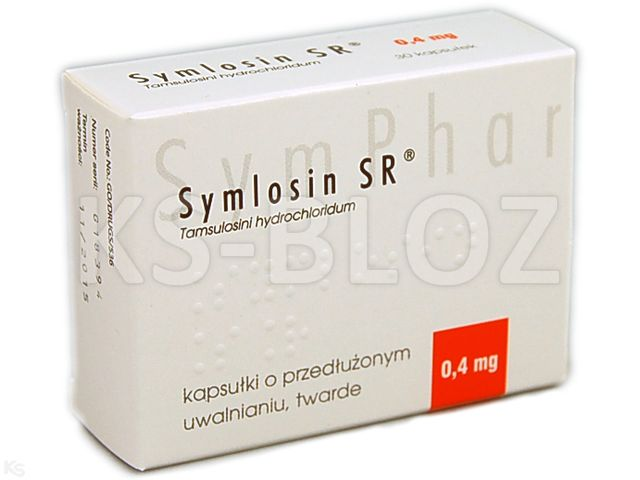Symlosin SR interakcje ulotka kapsułki o przedłużonym uwalnianiu twarde 0,4 mg 30 kaps.