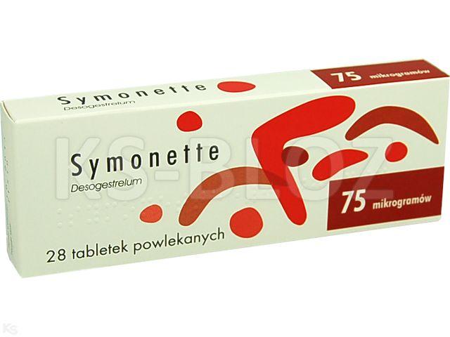 Symonette interakcje ulotka tabletki powlekane 0,075 mg 28 tabl.