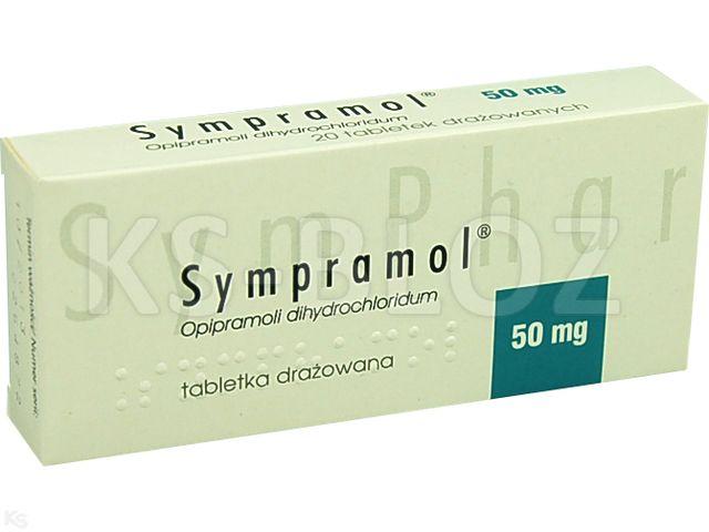 Sympramol interakcje ulotka tabletki drażowane 0,05 g 20 tabl.