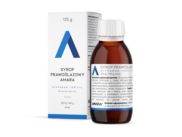 Syrop Prawoślazowy Amara interakcje ulotka  5 % 125 g
