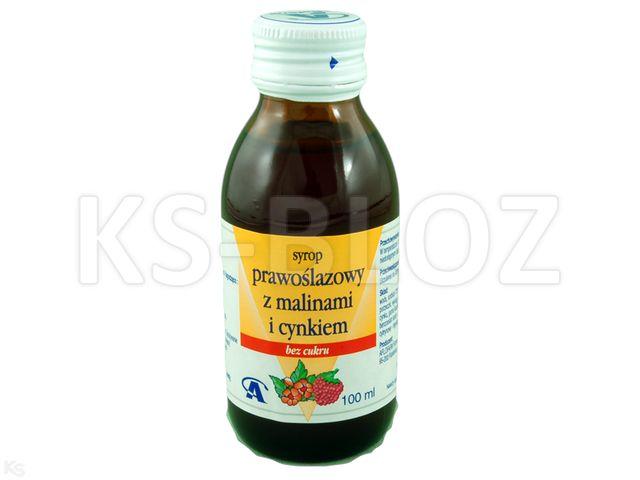 Syrop Prawoślazowy z malinami i cynkiem b/cukru interakcje ulotka   100 ml