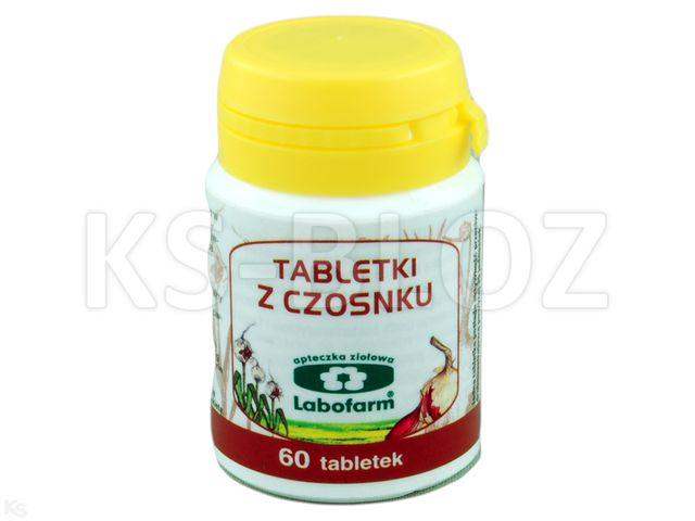 Tabletki z czosnku Labofarm interakcje ulotka tabletki 0,3 g 60 tabl.