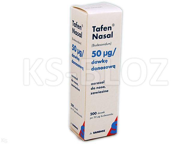 Tafen Nasal interakcje ulotka aerozol do nosa, zawiesina 0,05 mg/daw. 1 poj. po 200 daw.