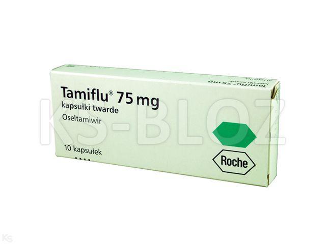 Tamiflu interakcje ulotka kapsułki twarde 0,075 g 10 kaps.