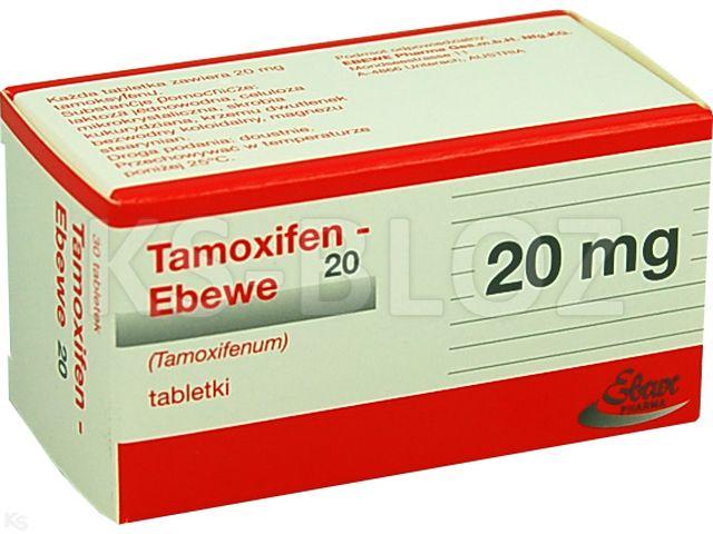 Tamoxifen EBEWE 20 interakcje ulotka tabletki 0,02 g 30 tabl.