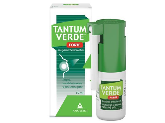 Tantum Verde Forte interakcje ulotka aerozol do stosowania w jamie ustnej 3 mg/ml 15 ml