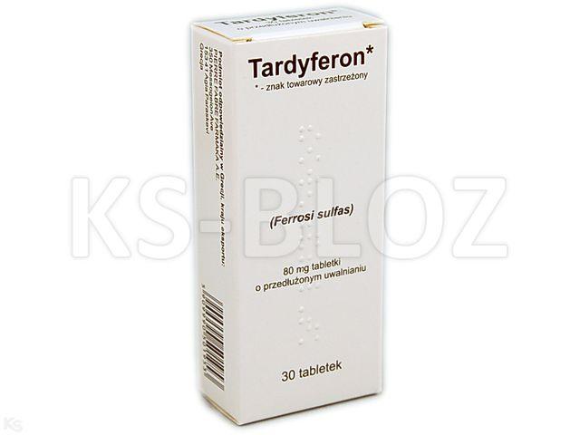 Tardyferon interakcje ulotka tabletki o przedłużonym uwalnianiu 0,08 g 30 tabl.
