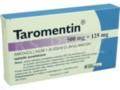 Taromentin interakcje ulotka tabletki powlekane 0,5g+0,125g 14 tabl.