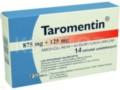 Taromentin interakcje ulotka tabletki powlekane 0,875g+0,125g 14 tabl.