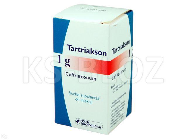 Tartriakson interakcje ulotka proszek do sporządzania roztworu do wstrzykiwań lub infuzji 1 g 1 fiol.