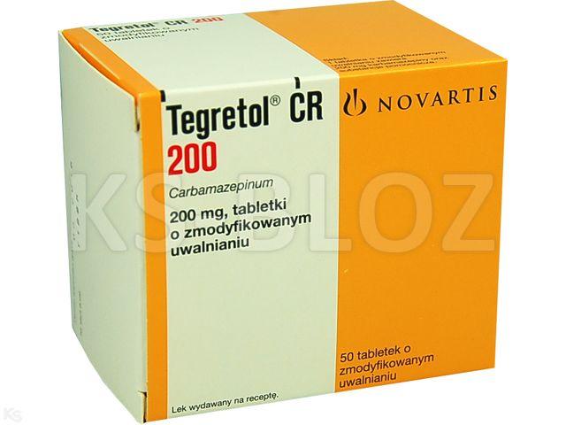Tegretol CR 200 interakcje ulotka tabletki o zmodyfikowanym uwalnianiu 0,2 g 50 tabl.