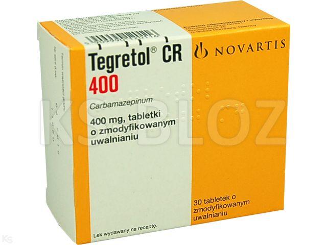 Tegretol CR 400 interakcje ulotka tabletki o zmodyfikowanym uwalnianiu 0,4 g 30 tabl.