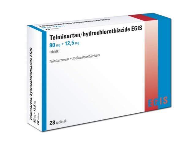Telmisartan/hydrochlorothiazide Egis interakcje ulotka tabletki 0,08g+0,0125g 28 tabl.