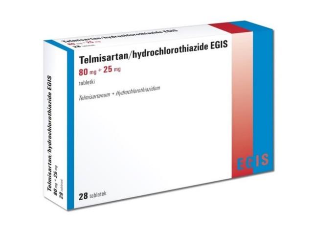 Telmisartan/hydrochlorothiazide Egis interakcje ulotka tabletki 0,08g+0,025g 28 tabl.