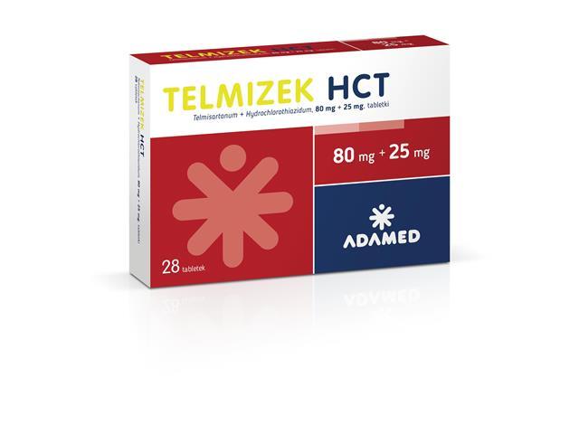 Telmizek HCT (Telmizek Combi) interakcje ulotka tabletki 0,08g+0,025g 28 tabl.