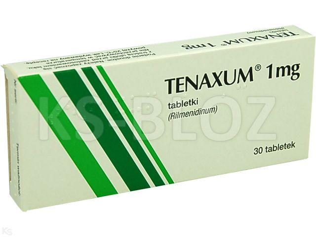 Tenaxum interakcje ulotka tabletki 1 mg 30 tabl. | 2 blist.po 15 szt.