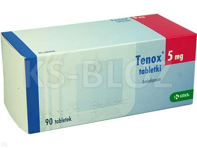 Tenox interakcje ulotka tabletki 5 mg 90 tabl.