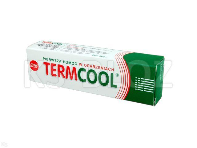 Termcool na oparzenia interakcje ulotka żel  30 g