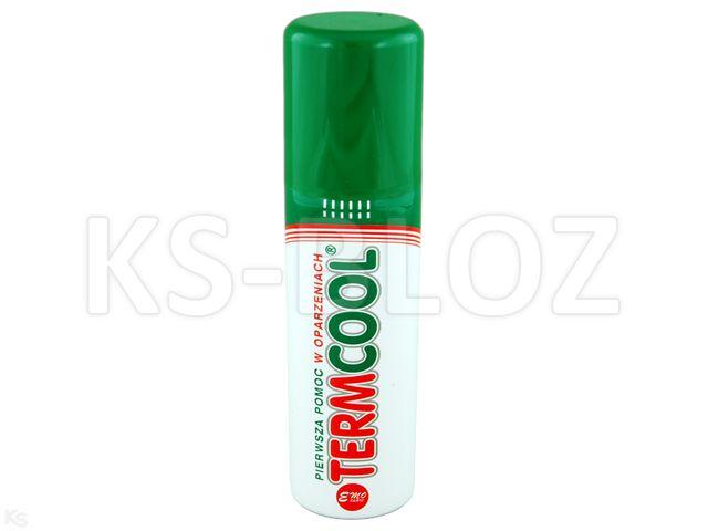 TERMCOOL Żel chłodz. 1- pomoc w oparzen. interakcje ulotka aerozol na skórę  130 ml