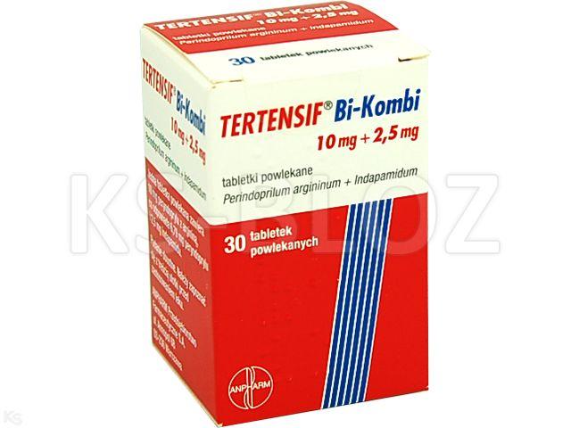 Tertensif Bi-Kombi interakcje ulotka tabletki powlekane 0,01g+2,5mg 30 tabl.