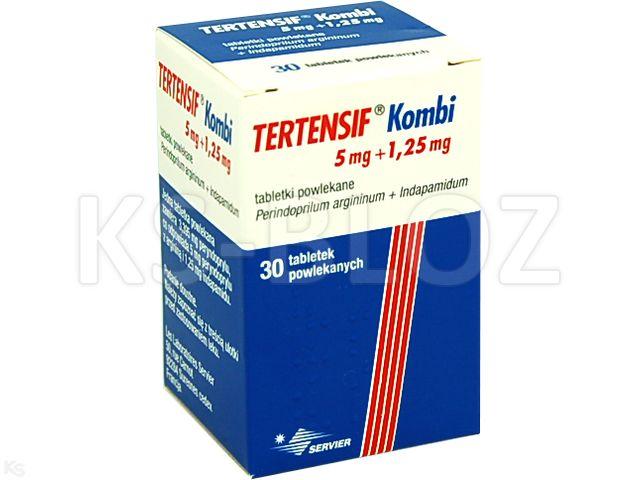 Tertensif Kombi interakcje ulotka tabletki powlekane 5mg+1,25mg 30 tabl.