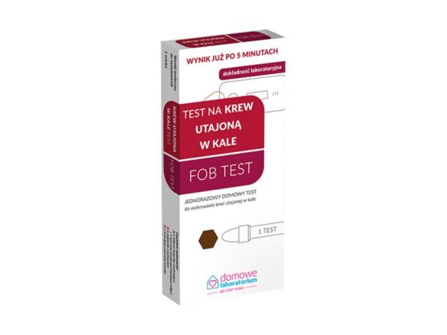 Test na krew utajoną w kale FOB test (Zdrowe Jelito FOB Test) interakcje ulotka   1 szt.