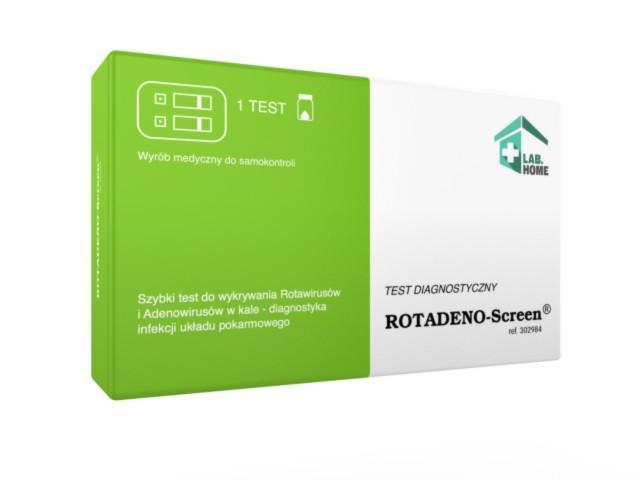 Test ROTADENO-Screen rotawirusy i adenowirusy interakcje ulotka   1 szt.