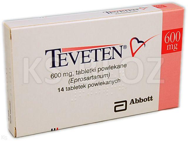 Teveten interakcje ulotka tabletki powlekane 0,6 g 14 tabl. | 1 blist.a 14 szt.