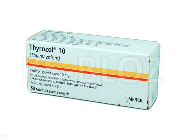 Thyrozol 10 interakcje ulotka tabletki powlekane 0,01 g 50 tabl.