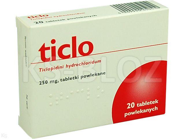 Ticlo interakcje ulotka tabletki powlekane 0,25 g 20 tabl.