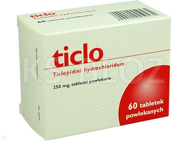 Ticlo interakcje ulotka tabletki powlekane 0,25 g 60 tabl.