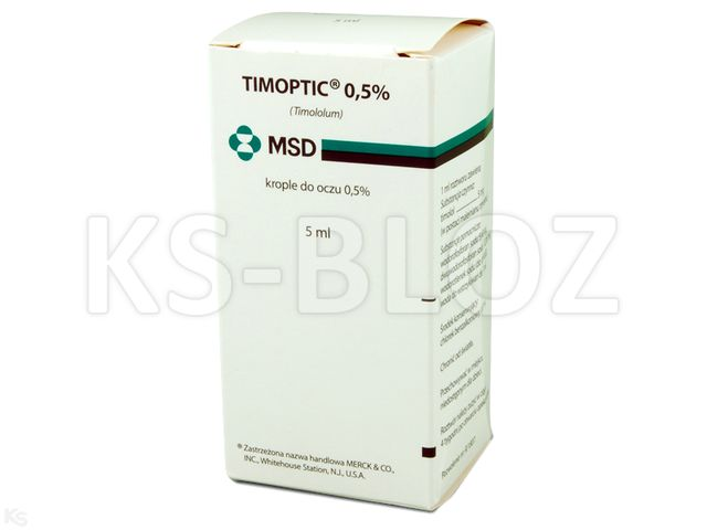 Timoptic 0,5% interakcje ulotka krople do oczu 5 mg/ml 1 fl. po 5 ml