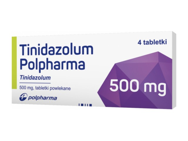 Tinidazolum Polpharma interakcje ulotka tabletki powlekane 0,5 g 4 tabl.