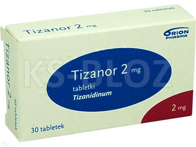Tizanor interakcje ulotka tabletki 2 mg 30 tabl.