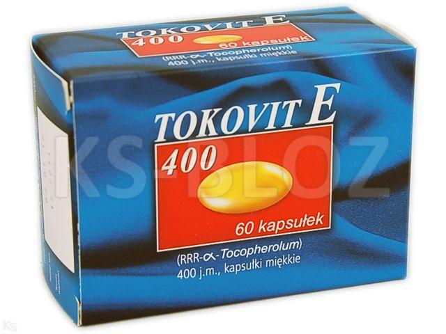 Tokovit E 400 interakcje ulotka kapsułki miękkie 400 j.m. 60 kaps.