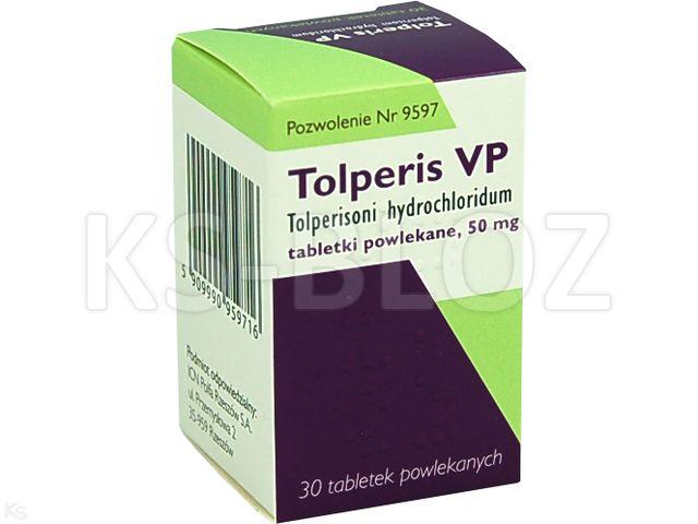 Tolperis VP interakcje ulotka tabletki powlekane 0,05 g 30 tabl.