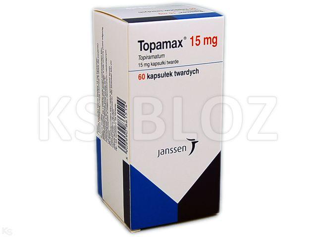 Topamax interakcje ulotka kapsułki 0,015 g 60 kaps.