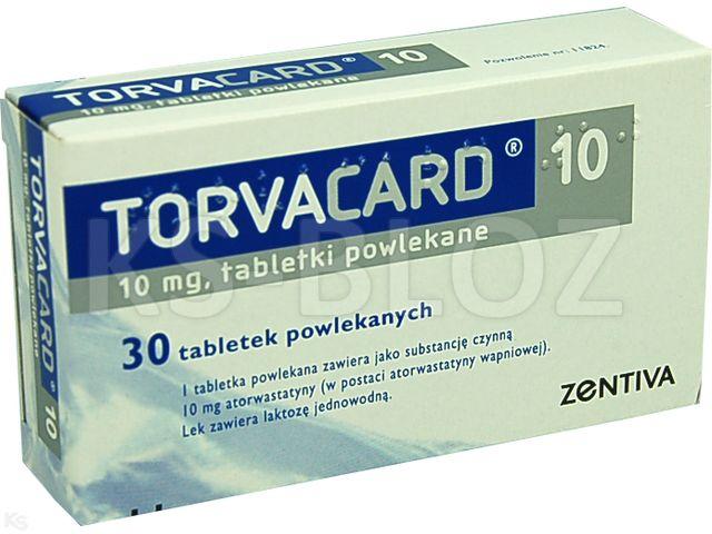 Torvacard 10 interakcje ulotka tabletki powlekane 0,01 g 30 tabl. | 3 blist.al.po 10 szt.