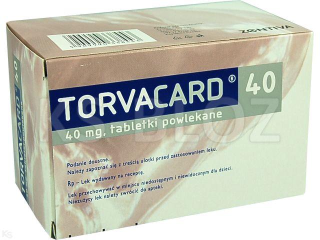 Torvacard 40 interakcje ulotka tabletki powlekane 0,04 g 90 tabl.