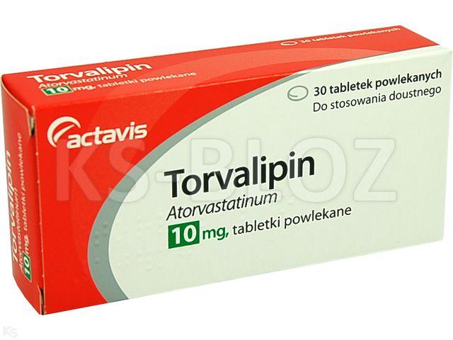 Torvalipin interakcje ulotka tabletki powlekane 0,01 g 30 tabl. | 3 blist.po 10 szt.