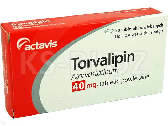 Torvalipin interakcje ulotka tabletki powlekane 0,04 g 30 tabl.