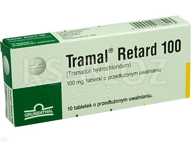 Tramal Retard 100 interakcje ulotka tabletki o przedłużonym uwalnianiu 0,1 g 10 tabl.