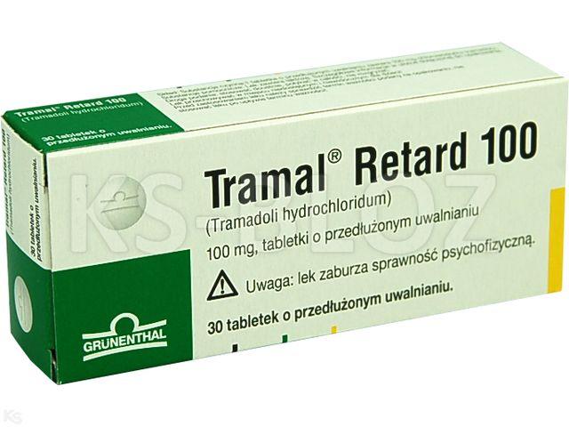 Tramal Retard 100 interakcje ulotka tabletki o przedłużonym uwalnianiu 0,1 g 30 tabl.